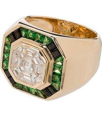 o thongthai 14k yellow gold tsavorite diamond ring