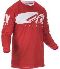 jersey  rojo/blanco fly kinetic shield