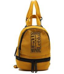 mochila amarilla leblu mini