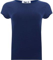 camiseta esencial unicolor color azul, talla s