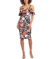 rachel rachel roy off-the-shoulder floral midi dress