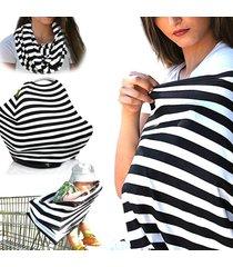 sciarpa per allattamento in coton a righe