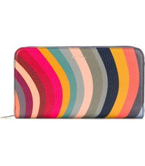 paul smith swirl zip-around wallet - blue