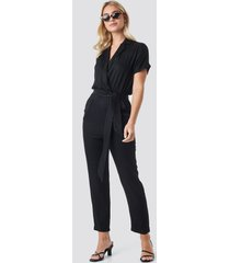 trendyol binding detailed jumpsuit - black