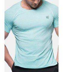 magliette a maniche corte in cotone tinta unita uomo casual basic basic traspirante