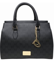 bebe estella monogram satchel