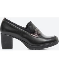 tacones casuales mujer freeport z09h negro
