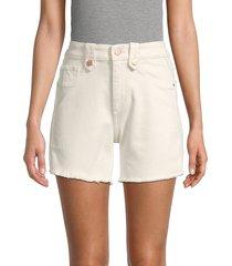 dl1961 women's denim ram hem shorts - oatmeal - size 24 (0)