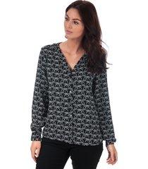 womens nova lux v-neck placket shirt