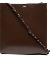 jil sander medium tangle shoulder bag - brown