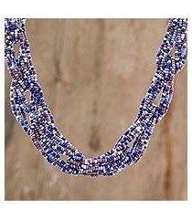 glass beaded strand necklace, 'colorful burst' (guatemala)