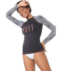 camiseta roxy surf pop stars preta - preto - feminino - dafiti