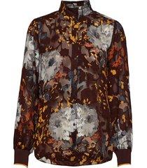 villa shirt blouse lange mouwen bruin inwear