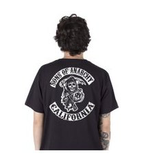 camiseta   stoned son's of anarchy preta