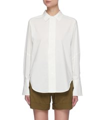 'the oversized shirt' in cotton