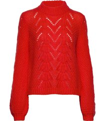 tali knit o-neck gebreide trui rood second female