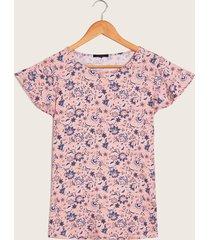 camisetaestampada rosada amarillo xxl