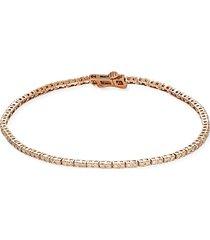 diana m jewels women's 14k rose gold & 1.00 tcw diamond bracelet