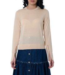chloé delicate pink wool blend shirt