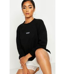 lichte sweater met tekst