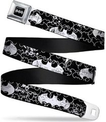 batman shield black outline style seatbelt belt adjustable waist
