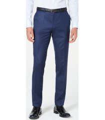 hugo men's skinny-fit stripe suit pants