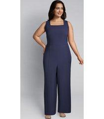 lane bryant women's lena square-neck jumpsuit 24p new navy