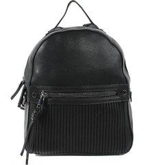 mochila bolsillo acolchado negro mailea