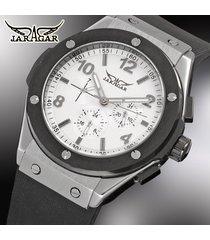 reloj mecánico/cuero/jaragar relojes mecánicos-blanco