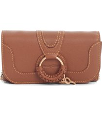 see by chloé long wallet crossbody w/ring