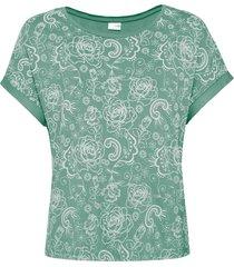 maglia con pizzo stampato (verde) - bodyflirt