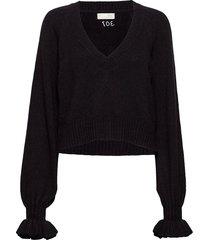 a whole lot of lovely sweater stickad tröja svart odd molly