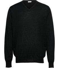 m. merino v-neck sweater gebreide trui v-hals zwart filippa k
