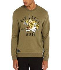 avirex men's tiger graphic sweatshirt