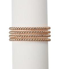 eye candy la women's the luxe 4-piece rosegold-plated stretch bracelet set
