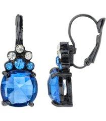 2028 black-tone crystal drop earrings