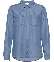 15 the denim shirt overhemd met lange mouwen blauw denim hunter