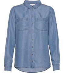 15 the denim shirt overhemd met lange mouwen blauw denim hunter