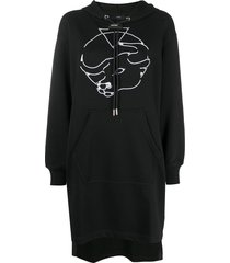 diesel taurus hooded dress - black