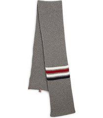 stripe wool scarf