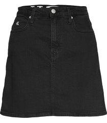 high rise mini skirt kort kjol svart calvin klein jeans