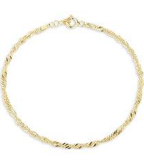 chloe & madison women's 18k gold vermeil singapore chain bracelet