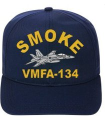 vmfa-134 smoke  f-18 hornet  direct embroidered cap    new