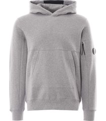 hooded lens sweatshirt - grey 40a-5086w m93