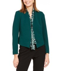 nine west open-front crepe jacket