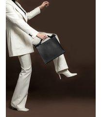 trapecja - czarna torebka w rękę