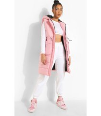 longline pocket detail gilet, pink