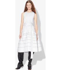 proenza schouler twill drop waist dress white 8