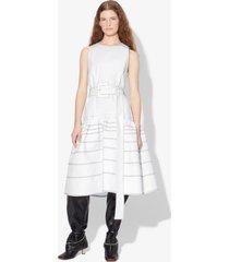 proenza schouler twill drop waist dress white 8