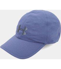 gorra azul-negro under armour ua run shadow cap